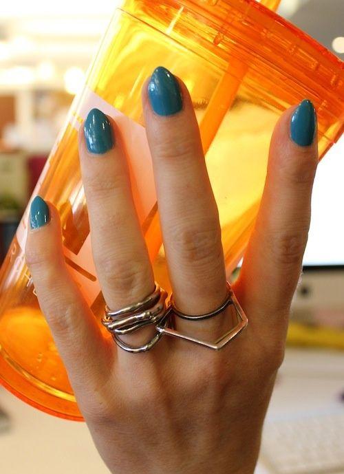 Pointy nails.
