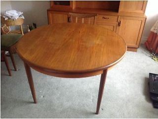G PLAN E GOMME TEAK DINING TABLE AND 4X CHAIRS WITH MATCHING SIDEBOARD UNIT Norwich Picture 1