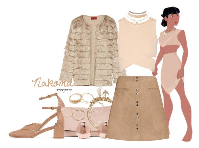 """""""Nakoma (Pocahontas)"""" by claucrasoda ❤ liked on Polyvore featuring Chloé, Sole Society, Missoni, Lonna & Lilly, Monica Vinader, Jonathan Simkhai, Intermix, Charlotte Russe and fringe"""