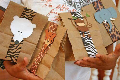 Bolsa de dulces con temática de animales