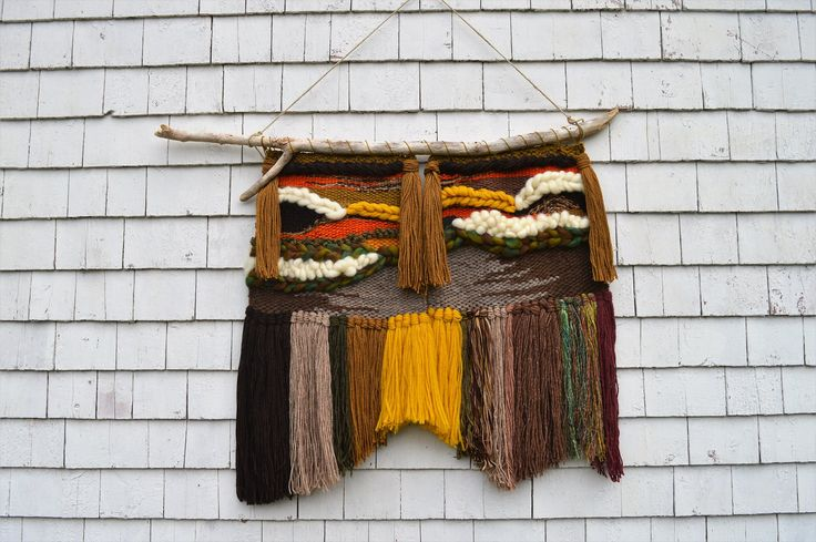 Handwoven wall hanging from House of Woolly Thyme.