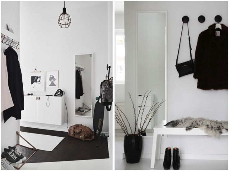 Hallway inspiration. Nordic, white, clean. Picture from homesick.nu