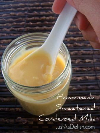 Sweetened Condensed Milk | Just as Delish