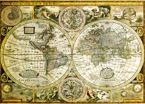 World Map - Historical Giant Poster