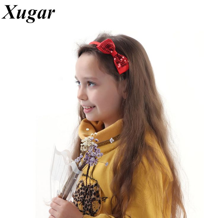 3 Pcs/Lot Fashion Polyester Solid Handmade Sequin Headband For Baby Girls Boutique Hair Bow Hairband Children Hair Accessory