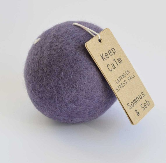This dried lavender stress ball fits into your office decor as an beautiful merino wool felt paperweight desk accessory. Pick it up and youll find it hides a secret - its filled with lavender and beans! Give it a squeeze, and it becomes the perfect aromatherapy stress relief office toy. A fragrant oasis of peace that sits perfectly on your desk to refresh and invigorate you throughout a busy working day. Keep Calm and relax. Lavender brings calmness and peace, healing, happiness and joy…