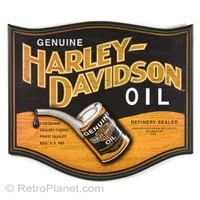 Harley-Davidson Oil Can Pub Tin Sign #harley #decor  http://www.retroplanet.com/PROD/31730