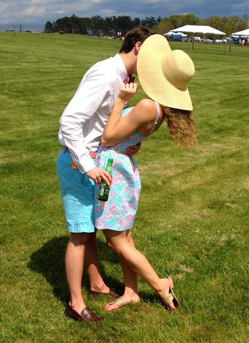 Preppy couple Carolina Cup