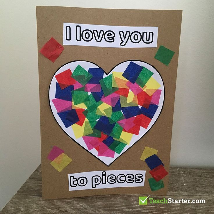 I Love you To Pieces Valentine's Card
