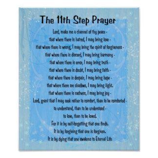 11th step prayer printable | Narcotics Anonymous Slogans Posters & Prints