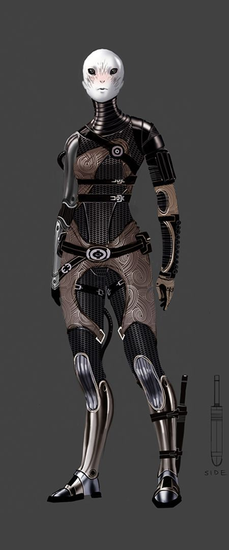 ME3 - Tali Face Concept - Matt Rhodes: Concept Art – Behind the Scenes