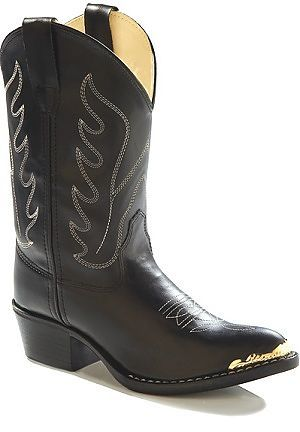 Old West Kids Cowboy Boots in Black