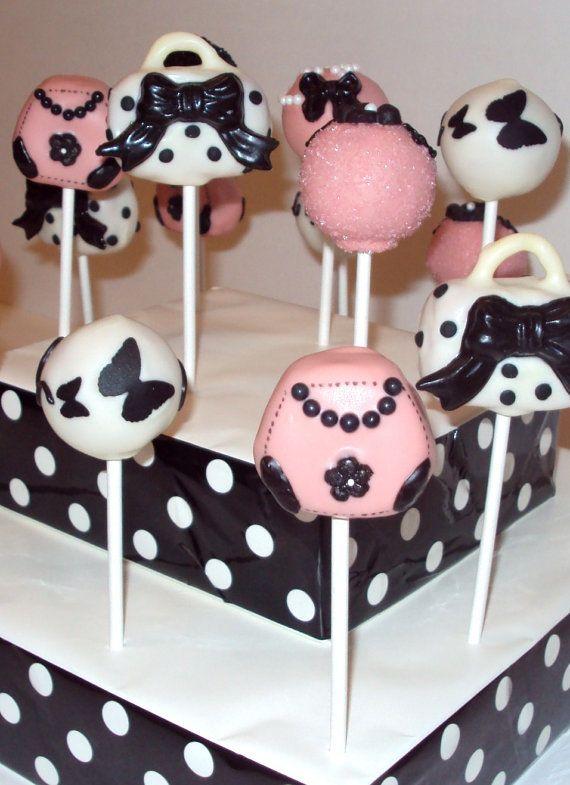 cake pops - paris party - by sugar parlour