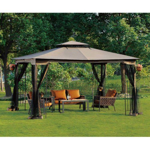 10 X 12 Regency II Patio Gazebo With Mosquito Netting Sunjoy Http://smile