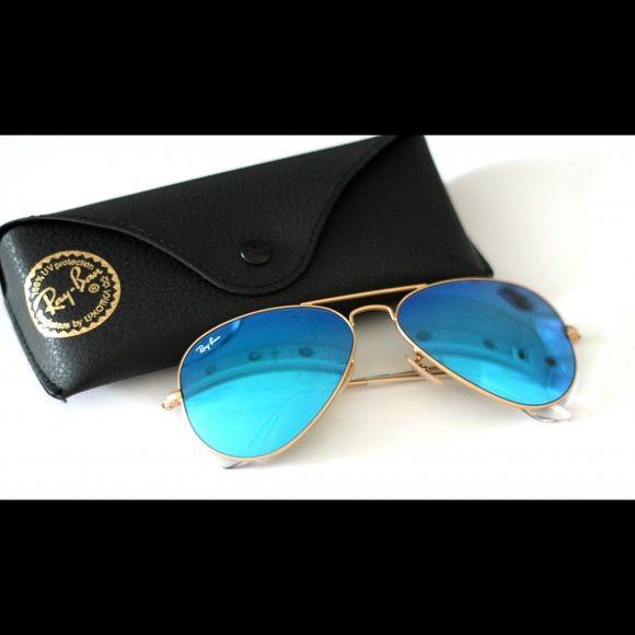 Blue Aviator RayBans NEW Ray-Ban Accessories Sunglasses