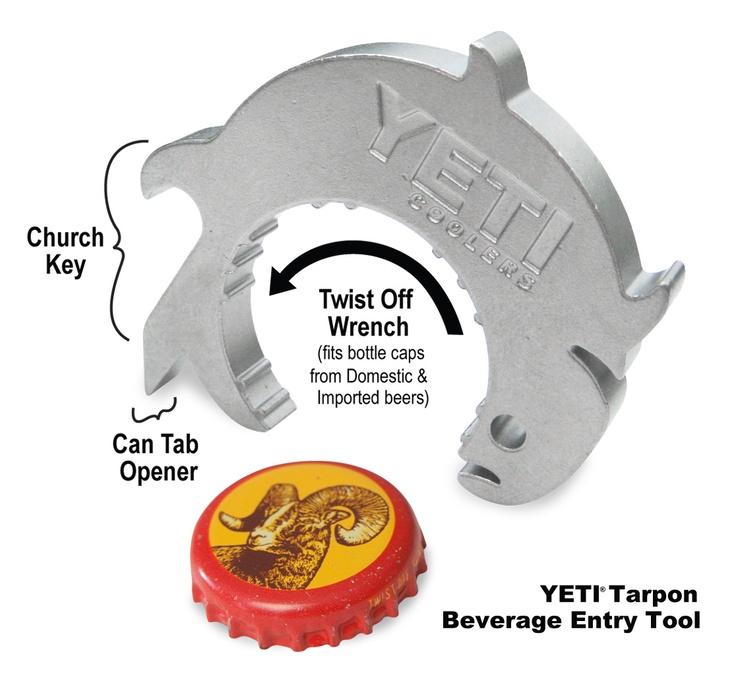 YETI Tarpon Beverage Entry Tool: Beverage Entry, Bottle Open, Tools Bet, Beverage Multi Entry, Multi Entry Tools, Yeti Bottle, Yeti Beverage, Tarpon Beverage, Yeti Tarpon
