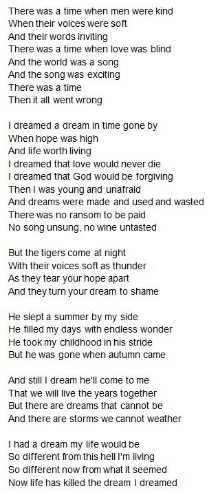 I Dreamed a Dream... I love this song.
