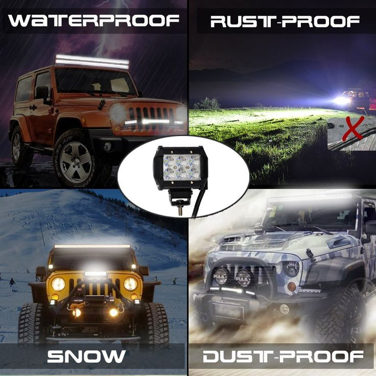 45 best off road led lights images on pinterest led light bars nilight 2 x 18w 1260 lm cree led spot driving fog light led work light bar mozeypictures Choice Image