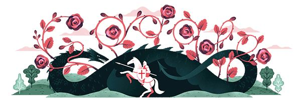 Happy St. Georges Day 2017 #GoogleDoodle