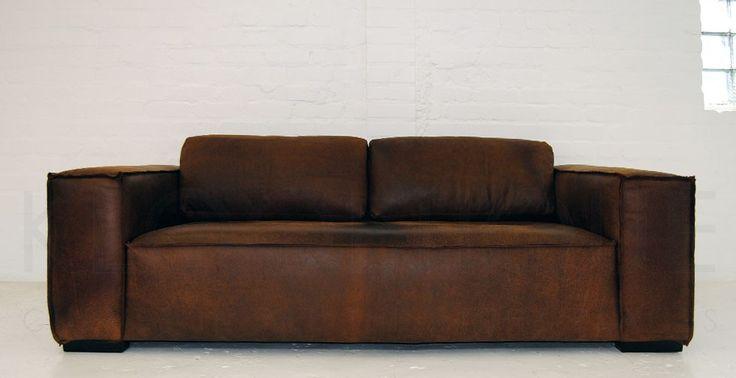 Klooftique - brown leather - Sahara Sofa 2.2m, R12,000