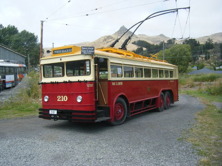 Christchurch No. 210. A 1931 English Electic with locally built body, restored to 1950 condition New Zealand