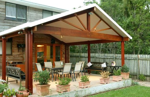 View A Range Of Great Patio Design Ideas With Our Gallery Of Flat Gable In 2020 Covered Patio Design Patio Patio Design