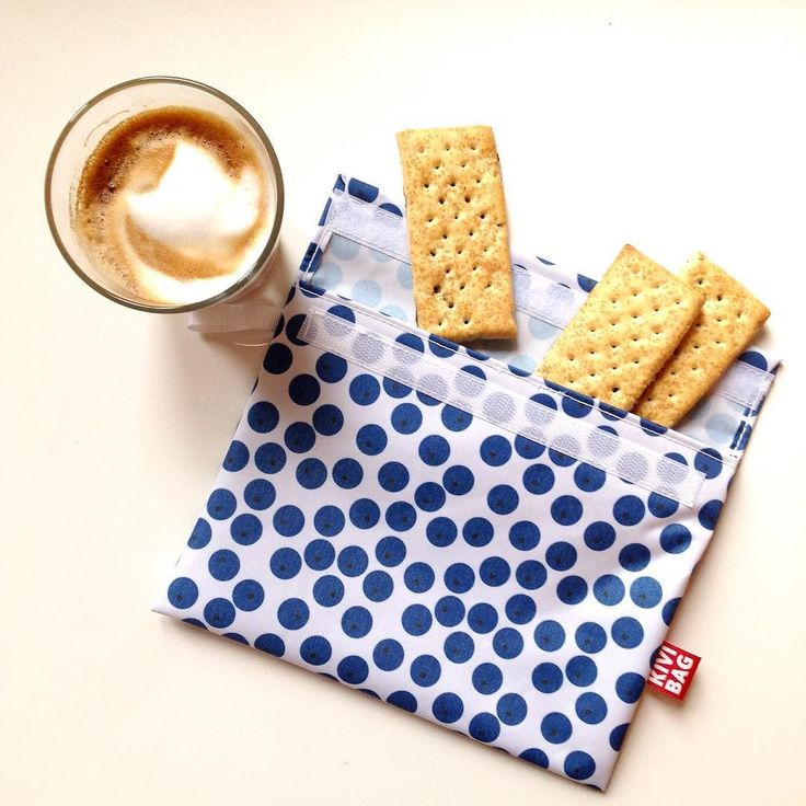 #café #cookies #snackbag #snack #bag #tasche #wiederverwendbar #lunchbag #reusable #waterproof #blue #bluebarry #caffè #caffee #cafepause #kivibag #lunchbags #zipperbags #sandwichbags #rausable #fabrics