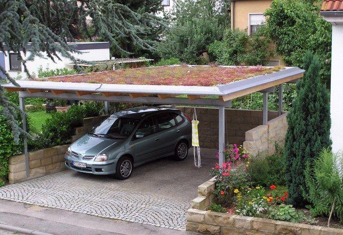 Carport Mit Dachbegrunung Dachbegrunung Dachkonstruktion Dach