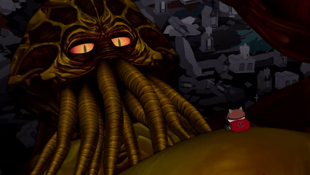 South Park, Mysterion Rises. Cartman and Cthulhu.