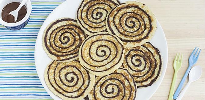 Tortitas Americanas en Espiral. Receta   Cocinemos.com.ve
