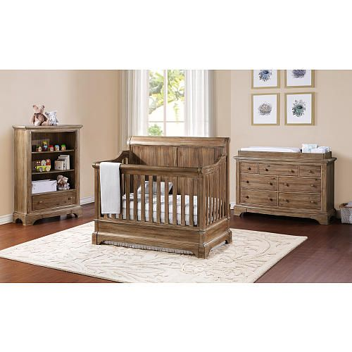 "Bertini Pembrooke 4-in-1 Convertible Crib - Natural Rustic - Bertini - Babies ""R"" Us - Cute for a boy!"