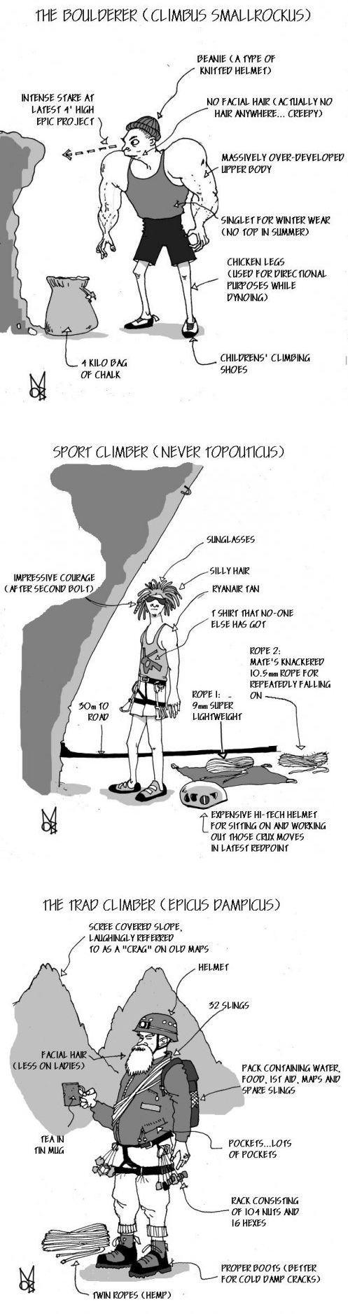 Scientific Description of a climber #Climbing #Outdoors http://www.cotswoldoutdoor.com/be/browse-by-activity/rock-climbing
