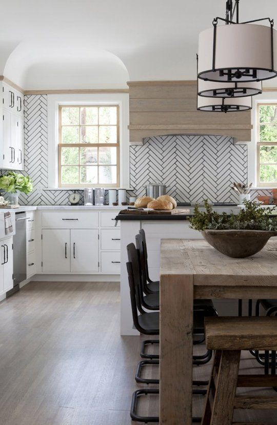 Verandah House - Love that Kitchen Backsplash and Wood Hood