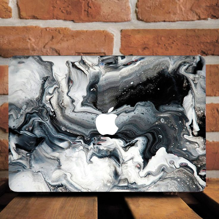 Black White Stone Marble Hard Plastic Case For Macbook Pro Retina 15 Air 11 13