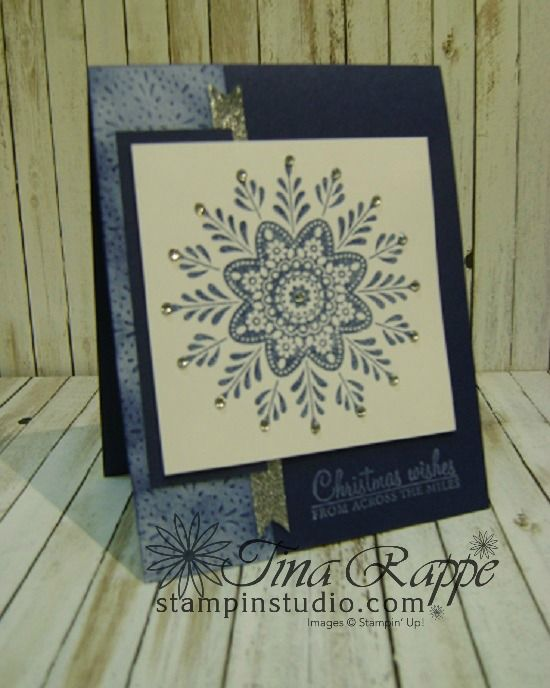 Stampin' Up! Frosted Medallions stamp set, Fancy Frost Specialty Designer Series Paper