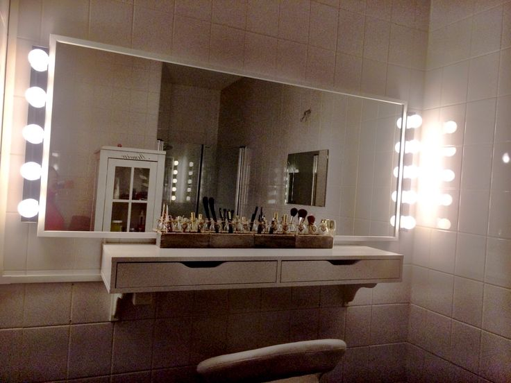 Make up station - IKEA Alex Ekby - mirror - dressingtable - Best 25+ Make Up Stations Ideas That You Will Like On Pinterest