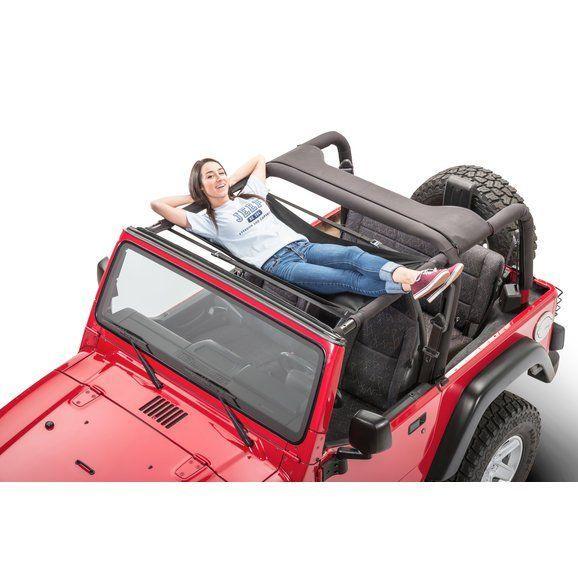 Jammock 22393 Black 2 0 Jeep Hammock For 87 20 Jeep Wrangler Jl Jk Tj Yj Gladiator Jt In 2020 Jeep Wrangler Accessories Jeep Hammock Jeep Wrangler Yj