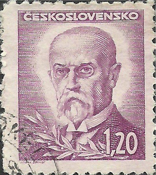 Znaczek: Tomáš Garrigue Masaryk (1850-1937), president (Czechosłowacja) (Portraits) Mi:CS 466,Sn:CS 295A,Yt:CS 408,AFA:CS 322,POF:CS 419