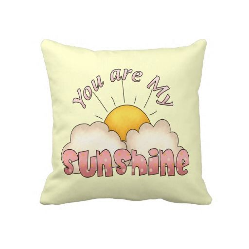 You Are My Sunshine (Girl) Throw Pillow