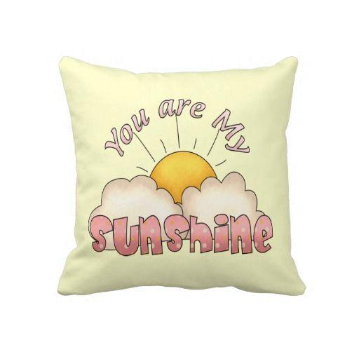 You Are My Sunshine (Girl) Throw Pillow