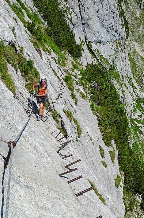 Höllental Klettersteig Zugspitze, Bayern. Den richtigen Reisebegleiter findet ihr bei uns: https://www.profibag.de/reisegepaeck/