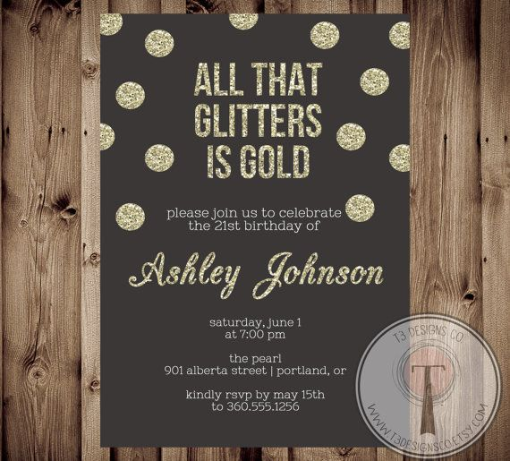 17 Best ideas about 21st Birthday Invitations on Pinterest | 21st ...