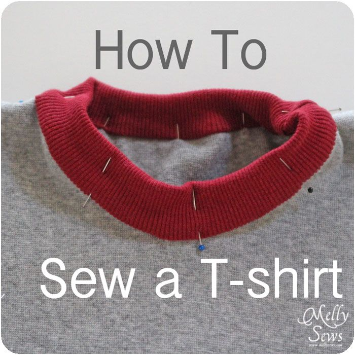 Melly Sews: How to sew a t-shirt (ie how to sew it together, links at the bottom to free children and adult size t patterns)