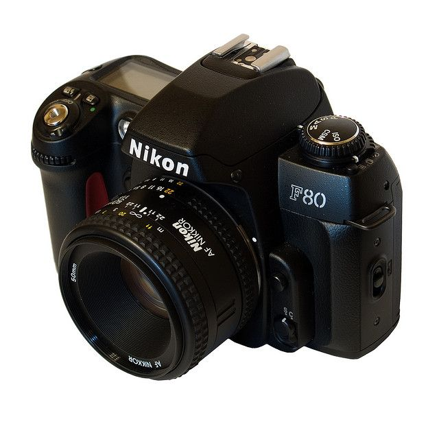 My very first camera, back in 2000. A Nikon F80 with 50mm f1.8