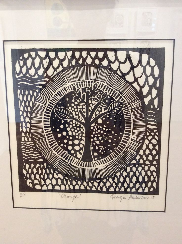 Linocut from Thought Patterns exhibition