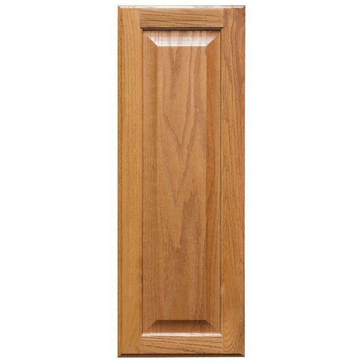 10x27.375x0.625 in. Hampton Decorative End Panel in Medium Oak