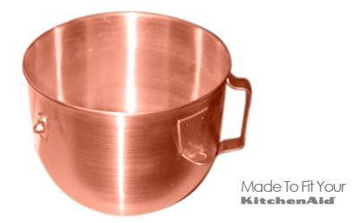 Copper Bowl for KitchenAid Heavy Duty Mixer   French Copper Studio