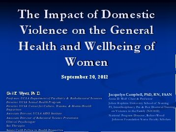 the impact of domestic violence against Effects of domestic violence against women 1 effect on children: there has been an increase in acknowledgement that a child who is exposed to domestic abuse during his upbringing will suffer in his development and psychological welfare.