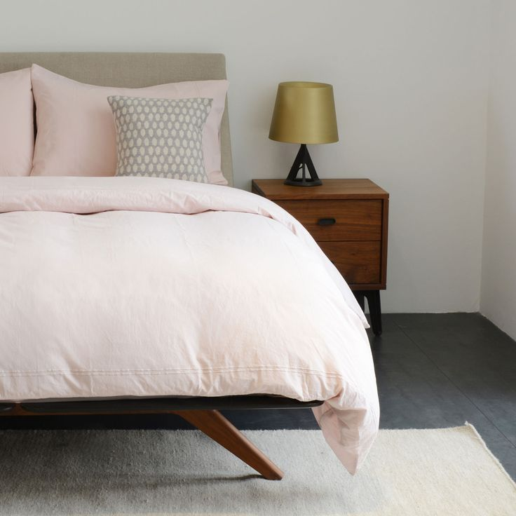 Vintage Wash Dusty Pink Bed Linen | Duvet Covers | Bedding | Bedroom | Heal's