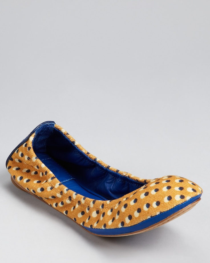 Tory Burch Flats--Eddie Canvas in Lucie/Jelly Blue
